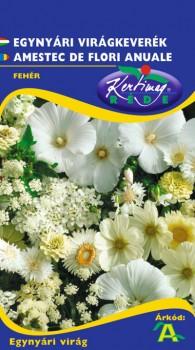 Egynyári virágkeverék fehér virágokból