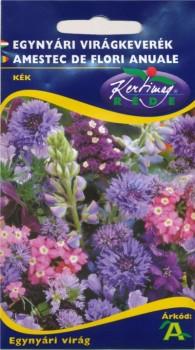 Virág vetőmag Egynyári virágkeverék kék virágokból