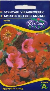 Virág vetőmag Egynyári virágkeverék piros virágokból